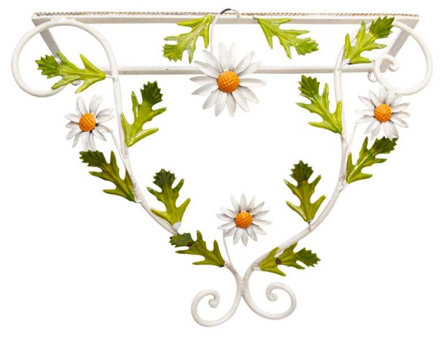 Metal Daisy Wall Shelf