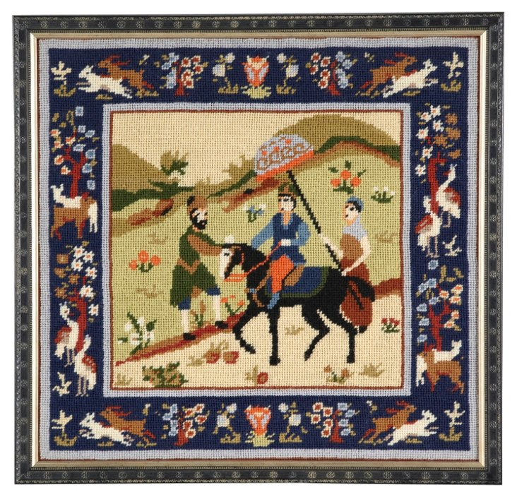 Indian-Style Needlepoint