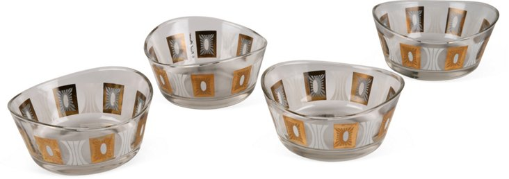 Fred Pressed Bowls, Set of 4
