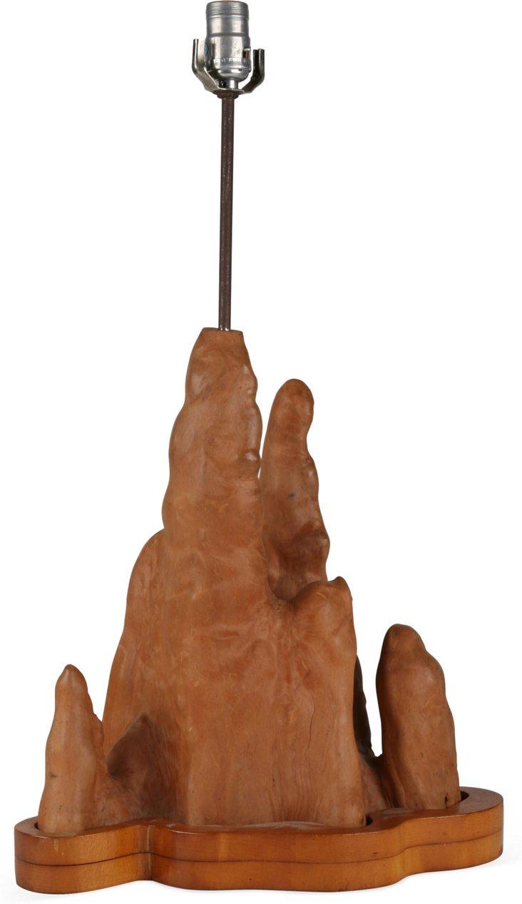 Cypress-Knee Table Lamp II