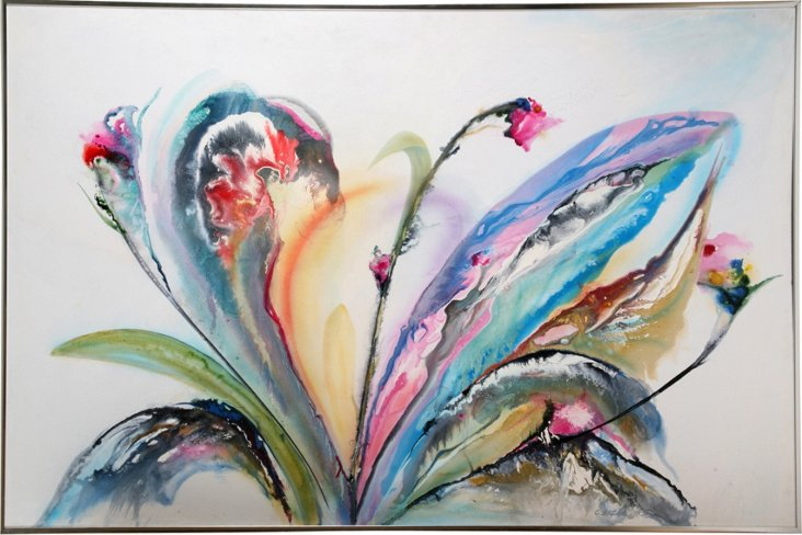 Oil Painting, Abstract Orchid
