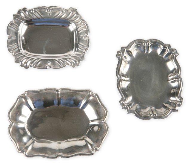 Silverplate Miniature Trays, Set of 3