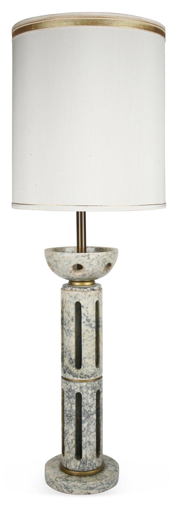 Italian Marble Lamp w/ Shade