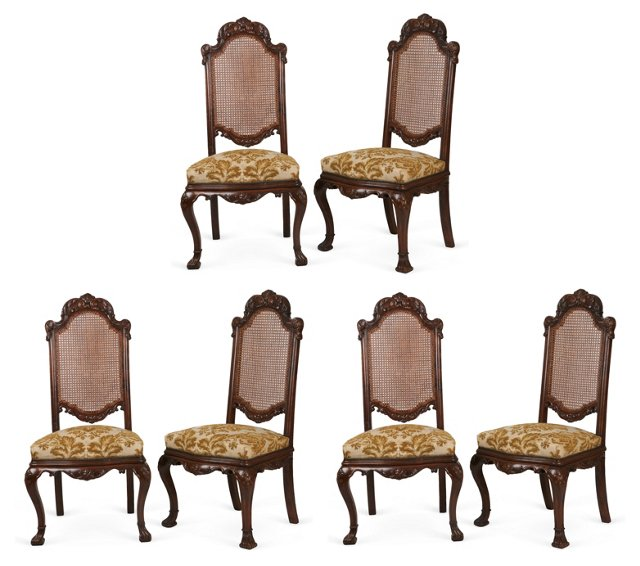 Spanish Baroque Side Chairs, Set of 6
