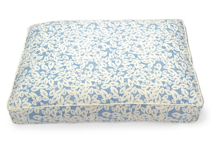 35x27 Pillow Bed, Leaves in Blue