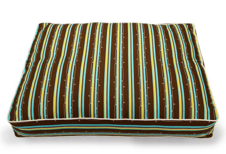 Classic Stripe Pillow Bed, Brown