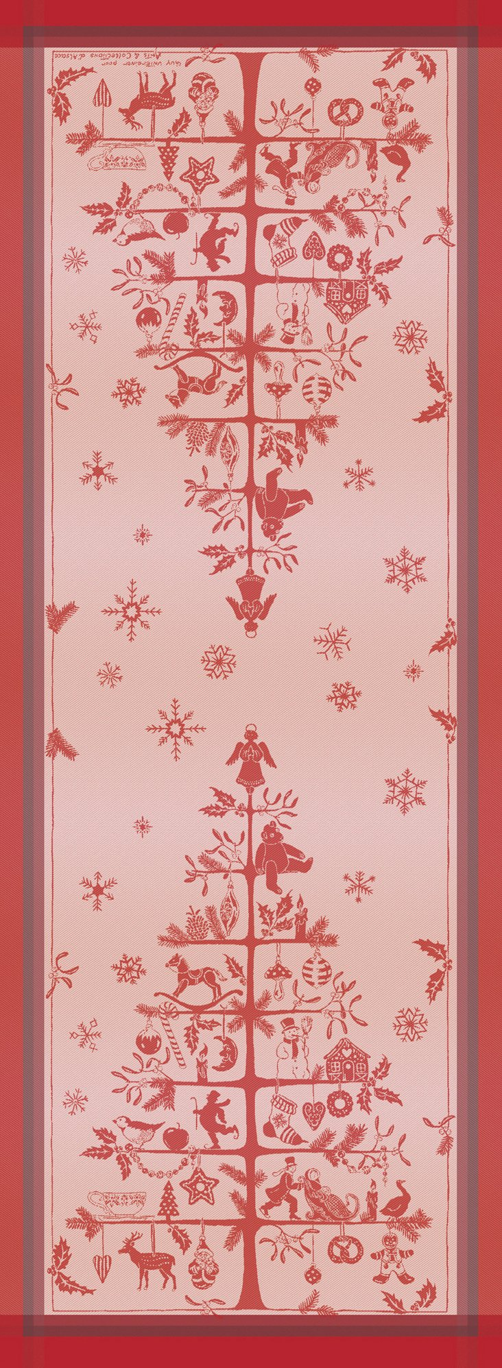 Sapin Tradition Table Runner, Red