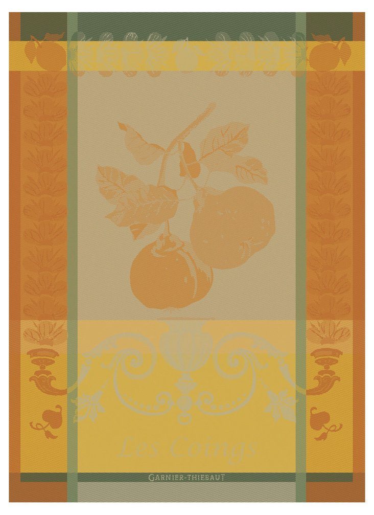 S/4 Kitchen Towels, Les Coings Jaune