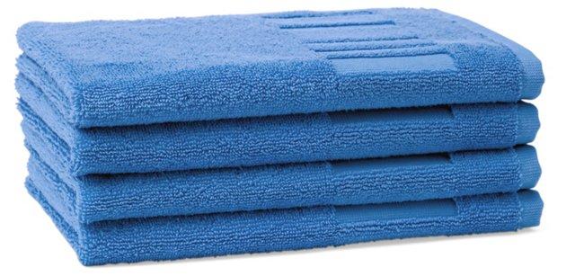 Set of 4 Spa Guest Towels, Lagon