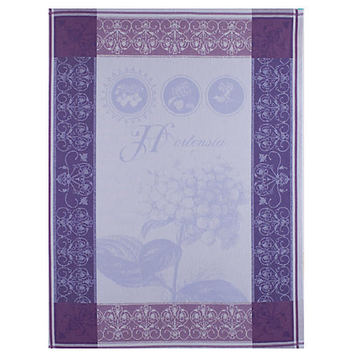 S/2 Kitchen Towels, Hortensia Bleu