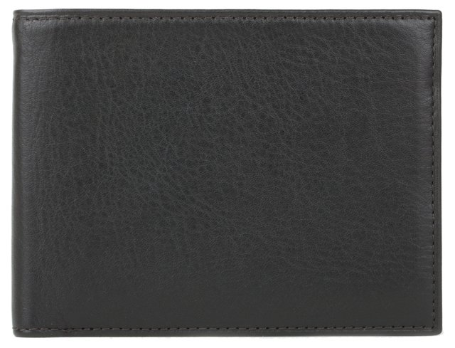 Leather Executive ID Wallet, Black