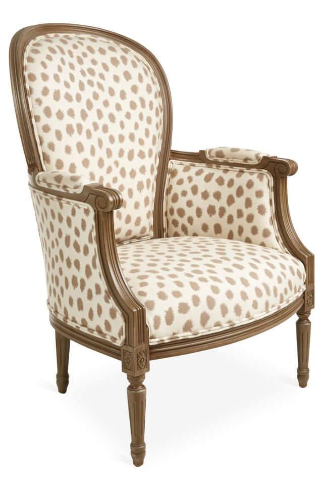 Germaine Chair, Ivory/Taupe
