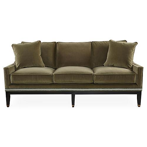 "Lenox 80"" Sofa, Moss"