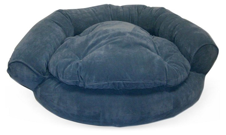 Microfiber Comfort Couch , Blue