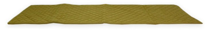 Quilted Bed Scarf, Carmel