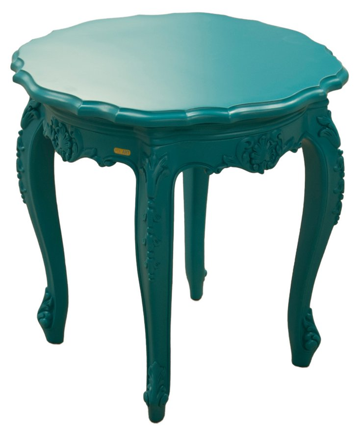 Tuileries Outdoor Side Table, Blue