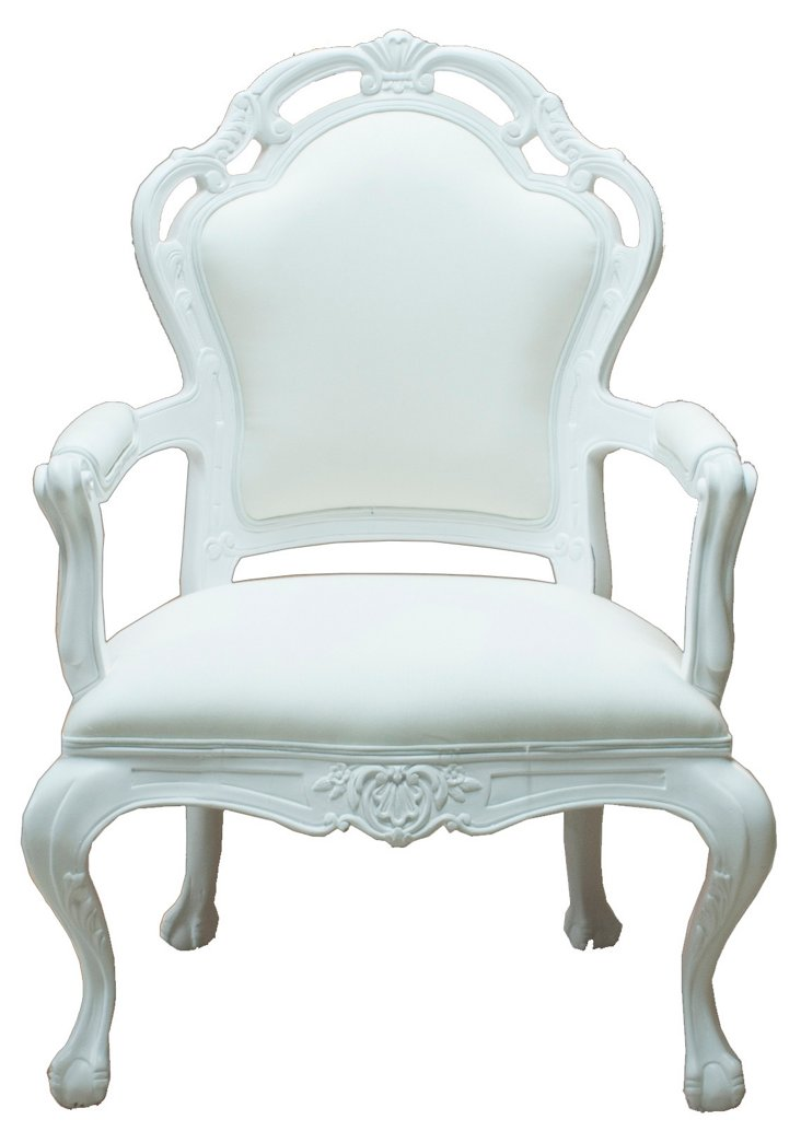 Tuileries Outdoor Armchair, White