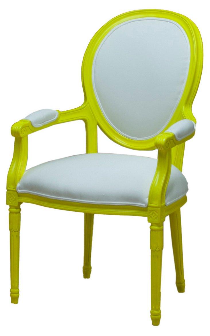 Matignon Outdoor Armchair, Yellow/White