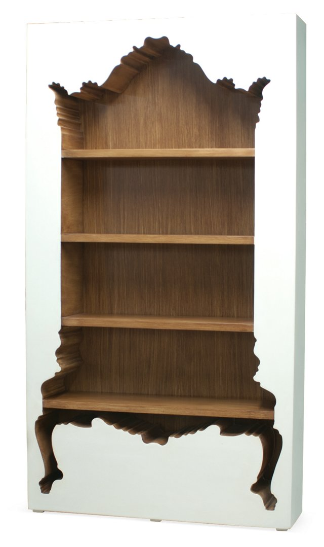 Inside-Out Bookcase, White