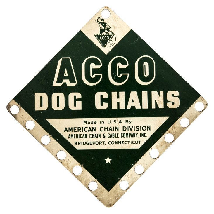 ACCO Dog Chains Sign