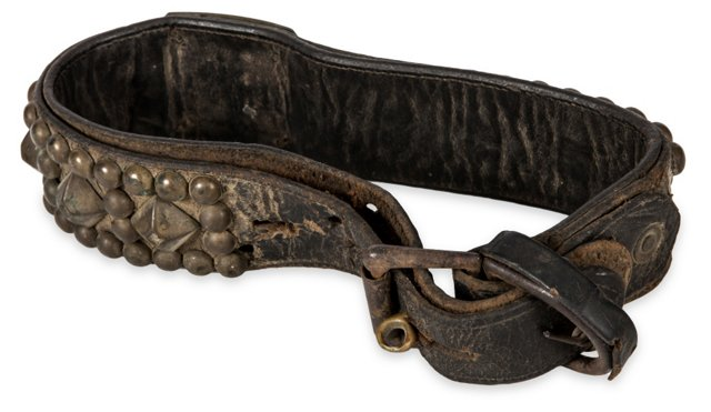 Antique Leather Studded Collar