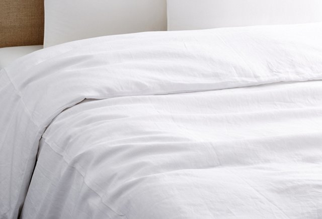 Vintage Wash Tailored Duvet, White