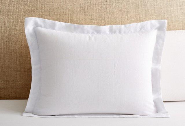Tailored Vintage Wash Sham, White