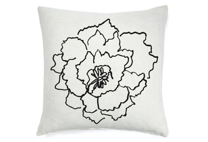 Chou Fleur 20x20 Pillow, Black