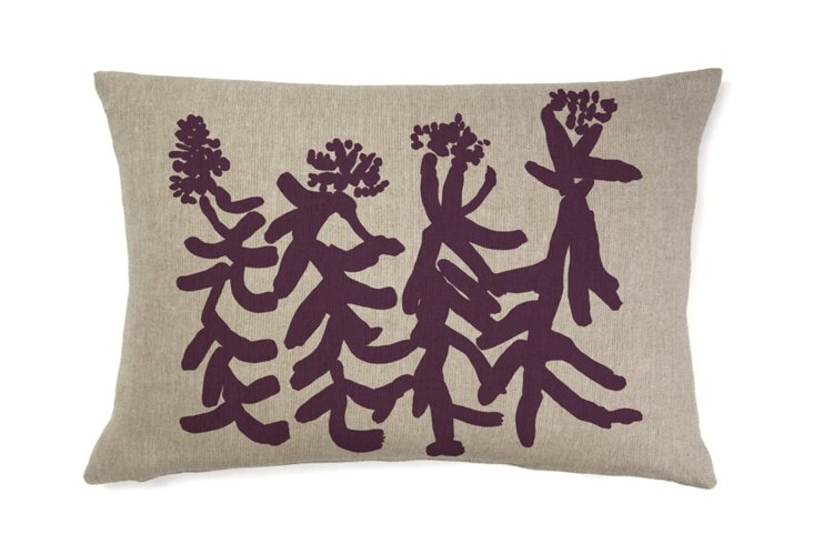 Indira People 16x26 Pillow, Merlot