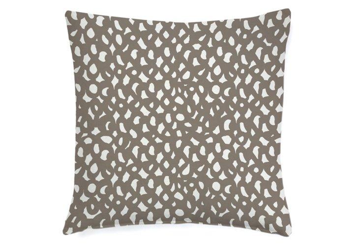 Links Abstract 20x20 Pillow, Khaki