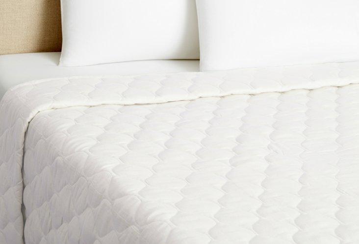 Diamond Linen Quilt, Cream