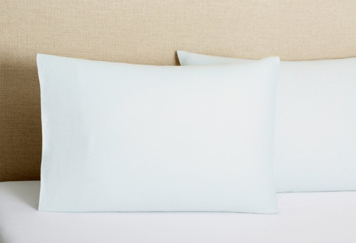 S/2 Tailored  Pillowcases, Blue