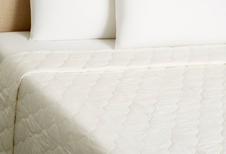 Diamond Linen Quilt, Ecru