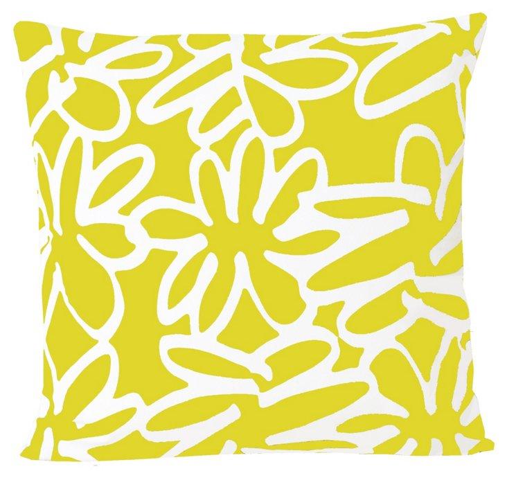 Daisy 20x20 Pillow, Yellow
