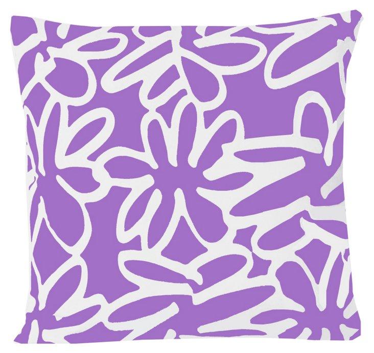 Daisy 20x20 Pillow, Grape