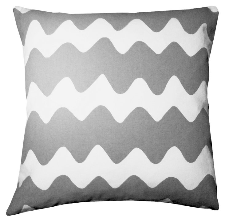 Zag 20x20 Pillow, Dark Gray