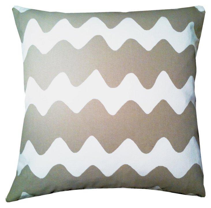 Zag 20x20 Pillow, Khaki