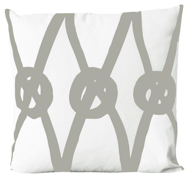 Knots 20x20 Pillow, Khaki