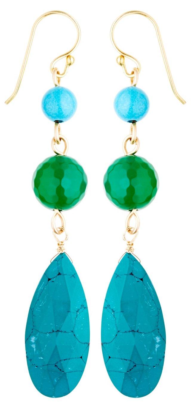 Turquoise Triplet Earrings