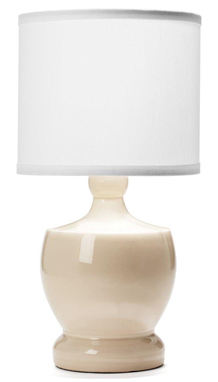 Fleur-De-Lis Lamp, White