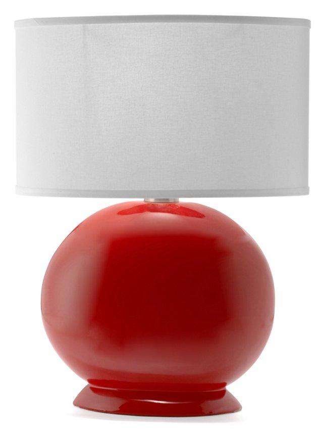 Ceramic Lynn Table Lamp, Red