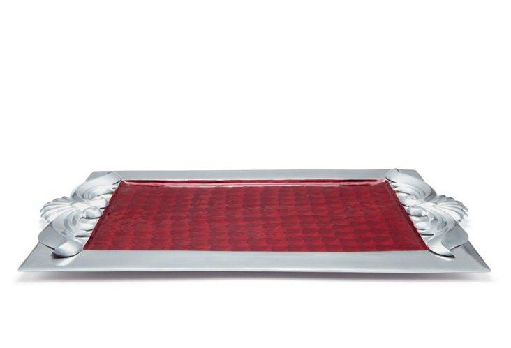 """Scroll Tray, 22"""" Pomegranate"""