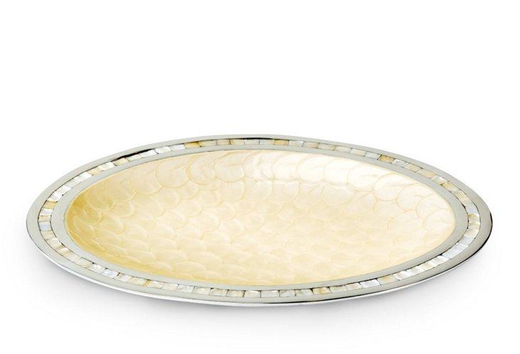 """Classic Oval Platter, 18"""" Buttercream"""