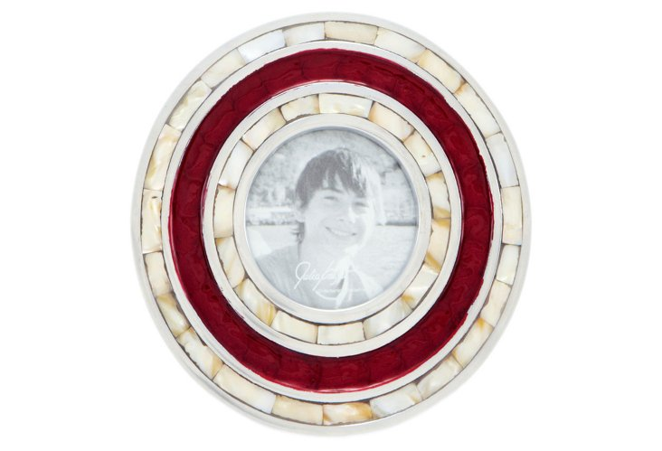 "Classic 3"" Round Frame, Pomegranate"