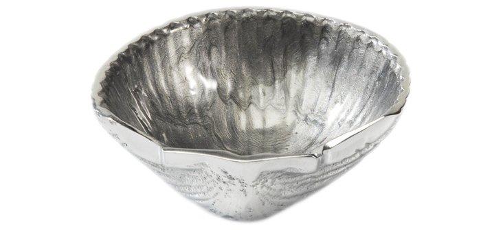 """Scallop Petite Bowl, 3.5"""" Platinum"""
