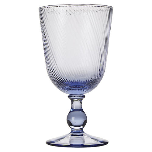 Arabella Footed Goblet, Delft Blue