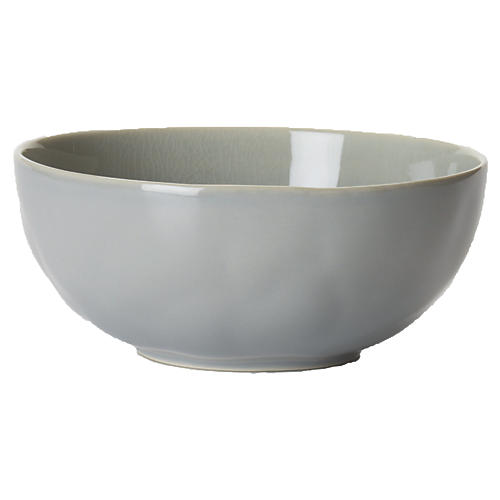 "7"" Puro Crackle Bowl, Mist Gray"