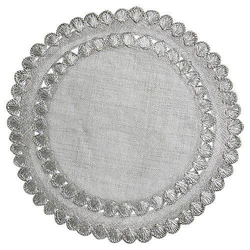 Isadora Place Mat, Silver