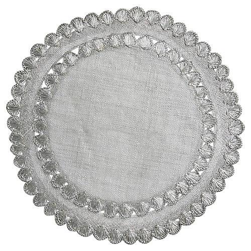 Isadora Place Mat, Silver