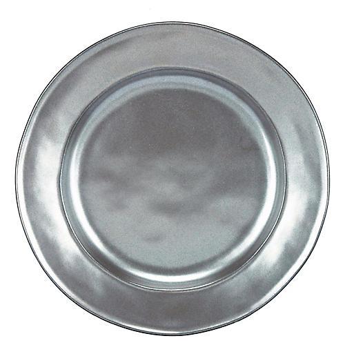 Stoneware Dessert Plate, Pewter
